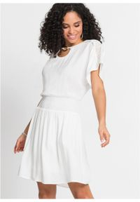 Biała sukienka bonprix na lato, mini
