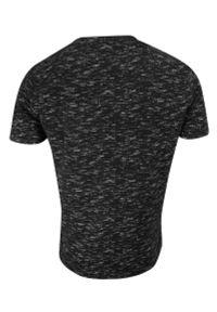 Brave Soul - T-shirt Czarny Melanżowy, Koszulka Męska, Okrągły Dekolt, Krótki Rękaw -BRAVE SOUL. Okazja: na co dzień. Kolor: czarny. Materiał: bawełna. Długość rękawa: krótki rękaw. Długość: krótkie. Wzór: melanż. Sezon: lato, wiosna. Styl: casual