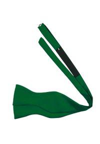 Modini - Zielona wiązana mucha męska M18. Kolor: zielony. Materiał: tkanina, poliester. Styl: elegancki