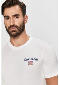 Biały t-shirt Napapijri casualowy, na co dzień