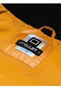 Żółta kurtka Ombre Clothing z aplikacjami, na zimę #12