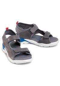 Szare sandały ecco klasyczne, na lato