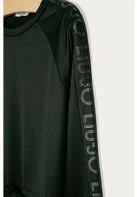 Czarna sukienka Liu Jo z długim rękawem, prosta, casualowa, mini