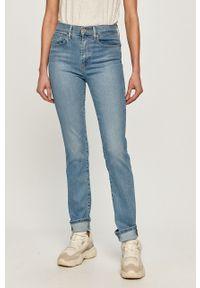 Niebieskie proste jeansy Levi's® biznesowe, z podwyższonym stanem, na spotkanie biznesowe