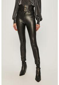 Czarne spodnie materiałowe Pinko casualowe, na co dzień