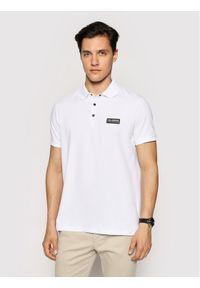 Karl Lagerfeld - KARL LAGERFELD Polo 745016 511221 Biały Regular Fit. Typ kołnierza: polo. Kolor: biały
