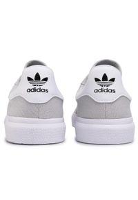 Szare półbuty Adidas eleganckie, na co dzień, z cholewką