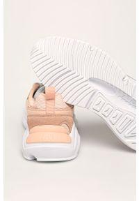 Białe buty sportowe Diadora na sznurówki, z cholewką