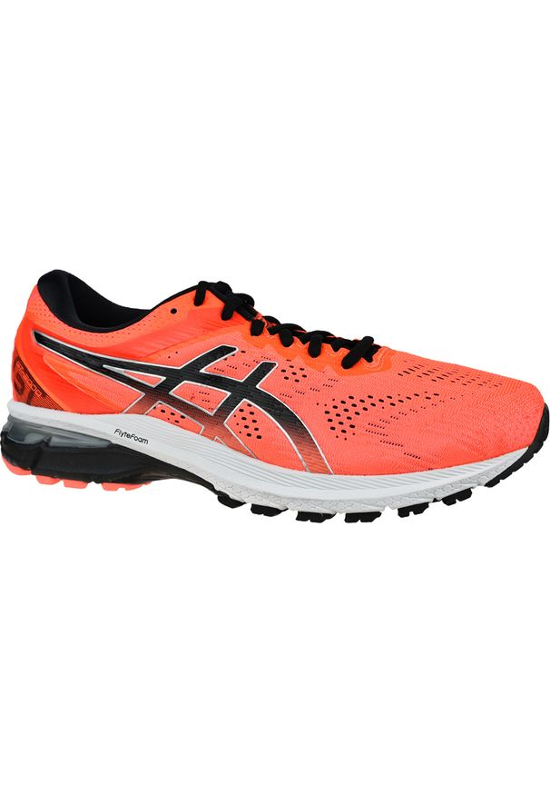 Czerwone buty do biegania Asics z cholewką, w kolorowe wzory