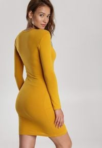 Renee - Żółta Sukienka Echonne. Kolor: żółty