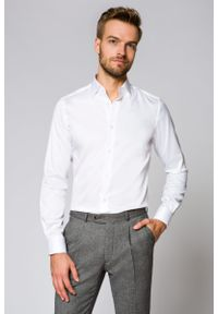 Biała koszula Lancerto biznesowa, na spotkanie biznesowe