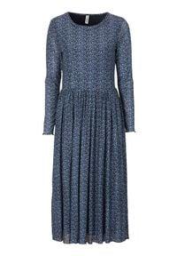 Soyaconcept Dżersejowa sukienka ze wzorem Alda niebieski we wzory female niebieski/ze wzorem XL (44). Kolor: niebieski. Materiał: jersey. Wzór: paski