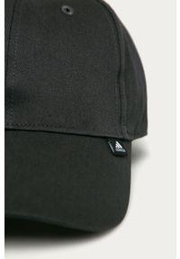 Szara czapka z daszkiem Adidas gładkie