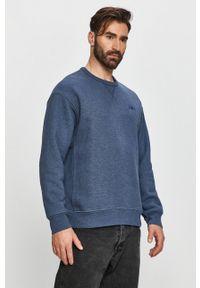 Levi's® - Levi's - Bluza. Okazja: na spotkanie biznesowe. Kolor: niebieski. Materiał: dzianina. Wzór: gładki. Styl: biznesowy