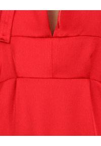 Czerwona sukienka elegancka, na komunię, midi