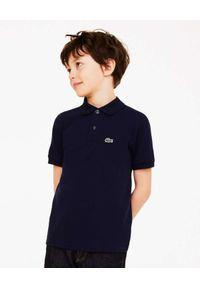 Lacoste - LACOSTE - Granatowa koszulka polo Regular Fit. Typ kołnierza: polo. Kolor: niebieski. Materiał: bawełna, prążkowany