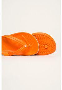 Pomarańczowe japonki Crocs bez obcasa