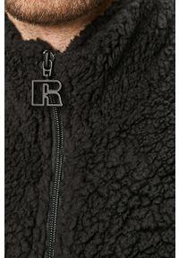 Czarna kurtka Russell Athletic bez kaptura, casualowa, na co dzień