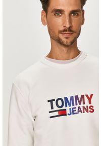 Biała bluza nierozpinana Tommy Jeans z nadrukiem, na co dzień, casualowa