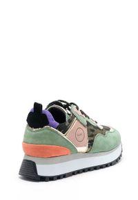 GOE - Buty. Nosek buta: okrągły. Zapięcie: sznurówki. Kolor: zielony. Materiał: skóra. Obcas: na platformie