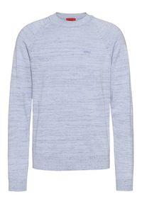 Niebieski sweter klasyczny Hugo