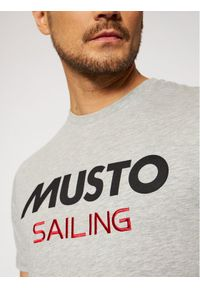 Musto T-Shirt Tee 82020 Szary Regular Fit. Kolor: szary