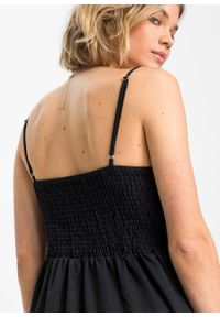 Czarny kombinezon bonprix na lato, na ramiączkach