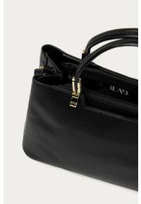 Czarna shopperka Answear Lab skórzana, wakacyjna, gładkie