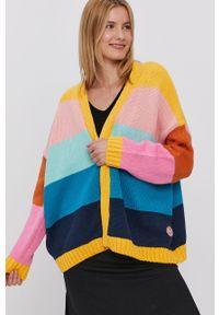 Wielokolorowy sweter rozpinany Femi Stories raglanowy rękaw, gładki