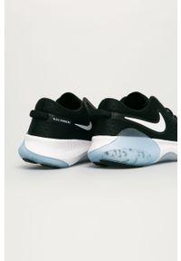 Czarne buty sportowe Nike z okrągłym noskiem, z cholewką