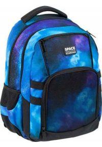 Starpak Plecak szkolny Space niebieski. Kolor: niebieski