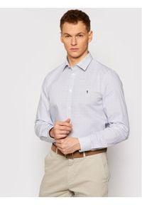 Trussardi Jeans - Trussardi Koszula Popeline 52C00210 Biały Slim Fit. Kolor: biały