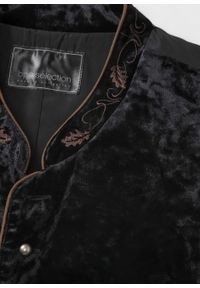 Kamizelka w ludowym stylu bonprix czarny. Kolor: czarny. Wzór: haft. Styl: klasyczny