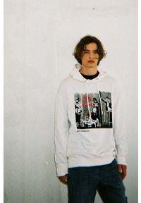 medicine - Medicine - Bluza bawełniana Banksy's Graffiti. Okazja: na co dzień. Kolor: biały. Materiał: bawełna. Wzór: nadruk. Styl: casual