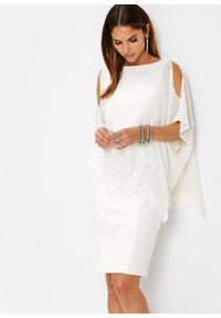 Biała sukienka bonprix ołówkowa