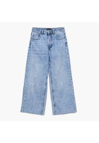 Cropp - Jeansowe spodnie kuloty - Niebieski. Kolor: niebieski