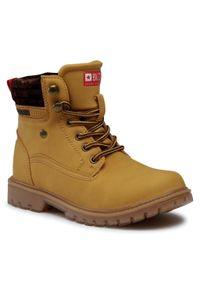 Brązowe buty zimowe Big-Star z cholewką