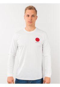 Biała koszulka z długim rękawem Edwin