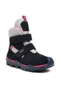 Niebieskie buty zimowe Bartek na spacer, z cholewką