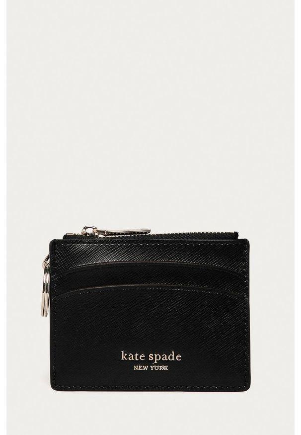 Kate Spade - Portfel skórzany. Kolor: czarny. Materiał: skóra. Wzór: gładki