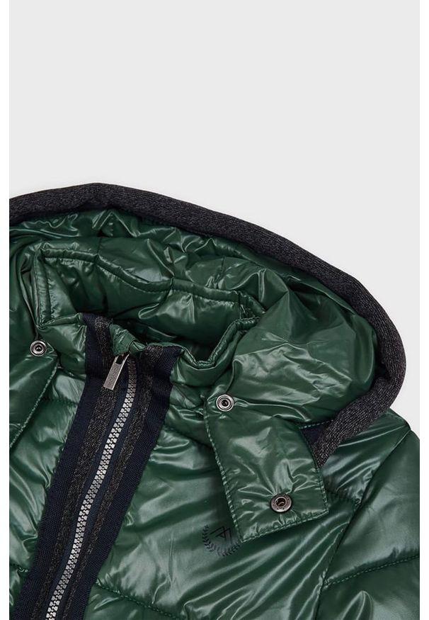 Zielona kurtka Mayoral z kapturem, casualowa, na co dzień