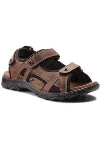 Brązowe sandały Lasocki For Men klasyczne, na lato