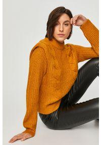Pomarańczowy sweter Answear Lab z długim rękawem, długi