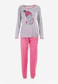 Born2be - Szaro-Różowy 2-Częściowy Komplet Piżamowy Meria. Kolor: szary