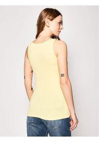 Guess Top Babe Tank W0GI73 K1810 Żółty Slim Fit. Kolor: żółty
