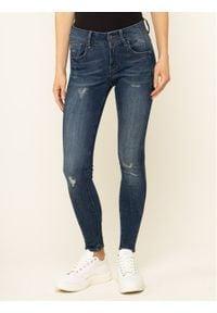 G-Star RAW - G-Star Raw Jeansy D15266-9136-A890 Granatowy Skinny Fit. Kolor: niebieski. Materiał: jeans