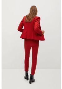 Czerwone spodnie materiałowe mango casualowe, na co dzień