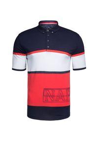 Koszulka polo Napapijri z nadrukiem, polo
