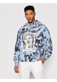 Versace Jeans Couture Bluza B7GWA7VE Niebieski Relaxed Fit. Kolor: niebieski