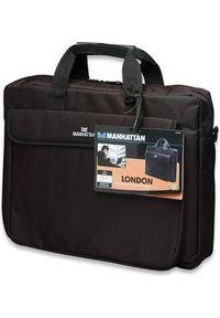MANHATTAN - Torba Manhattan 15.6 cali London Czarny (438889). Kolor: czarny